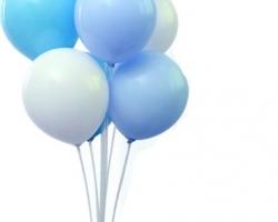 Стойка за 7 балона - Не Разглобяема - 70 см. Тип направи си сам!