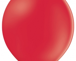 pack of 50 red pastel balloons