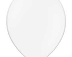 Pack of 50 white balloons in pack - biodegradable
