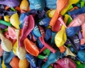 50 balloons with  print wellcome in bulgaria language