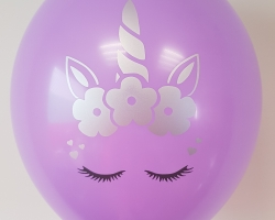 "Super cute balloons with ""Unicorn"" seal pack of 100."