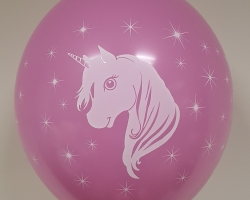 "New model party balloons with print ""Unicorn"" pack of 100 pcs"