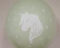 нов модел парти балон с пеачат еднорог върху балон с цвят киви