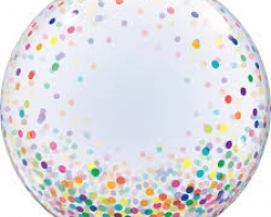 "Deco Bubble Transparent Bubble Printed Multicolored Candy - Transparent 24 ""Inch Bubble"