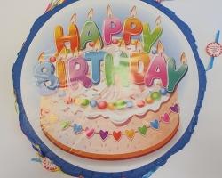 "Пинята ""Happy Birthday"" 45 сантиметра Модел 5"