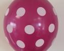 Party balloons with print polka dots coral grape
